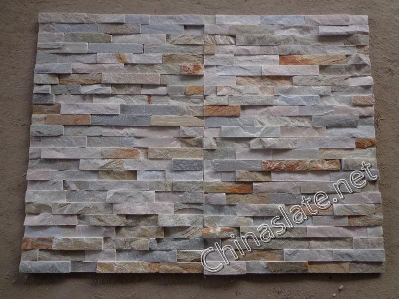 p014 light beige white grey pink cultured stone slate ledge wall ...