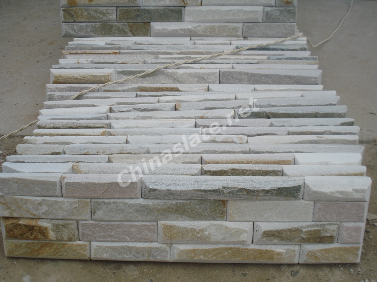 Polished Stone Wall Cladding : Tumbled cultured stone veneer stacked wall