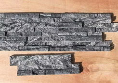 Black wood vein marble wall stone interlock 4cm,10*36cm