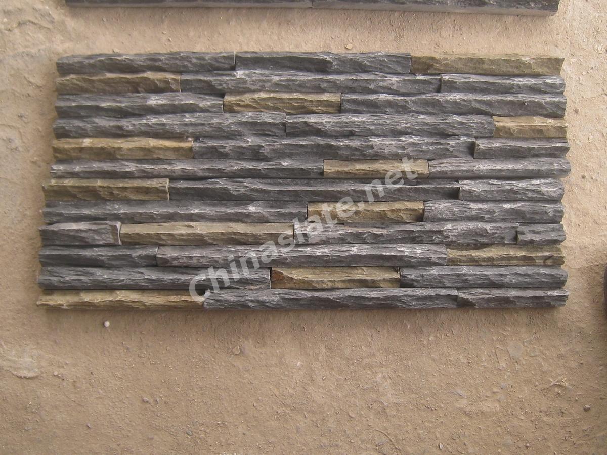 Mountain Shape Cultured Stone Veneer Sharp Shape Wall