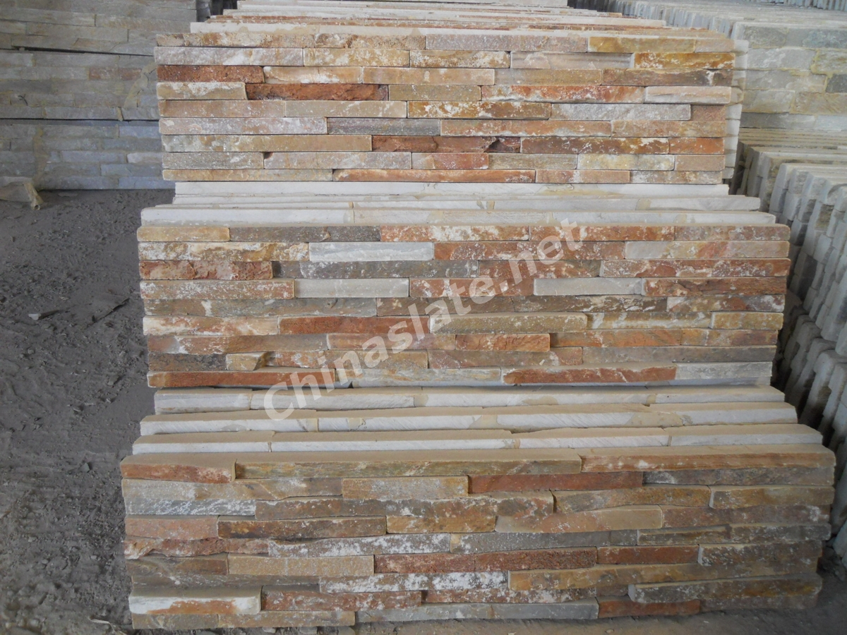 Manufacturer Narrow Stacked Stone Veneer Small Stripes