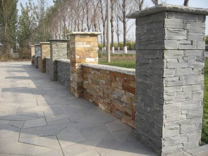 Cultured Stone Pillars : Manufacturer ledge stone pillar cultured column