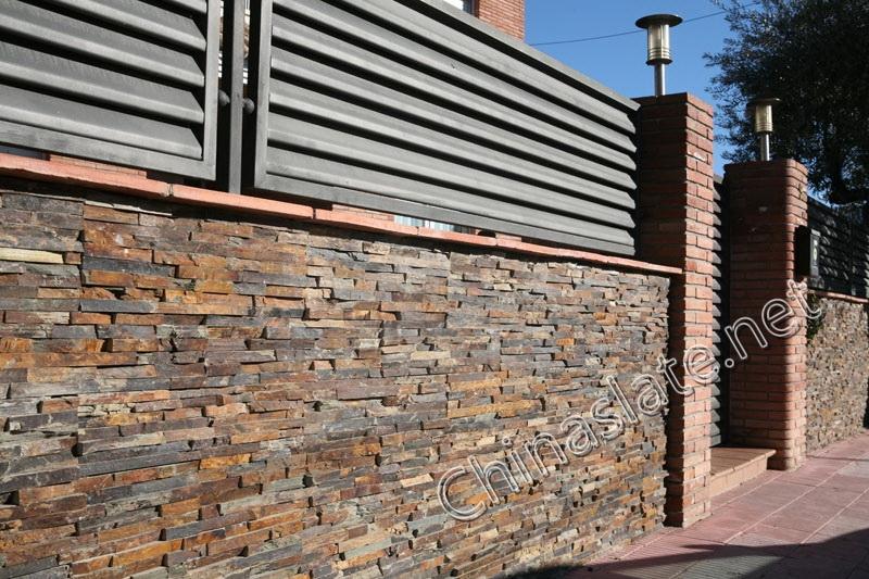 Nice Rusty Slate Wall House · Rust Slate Wall Rough ...