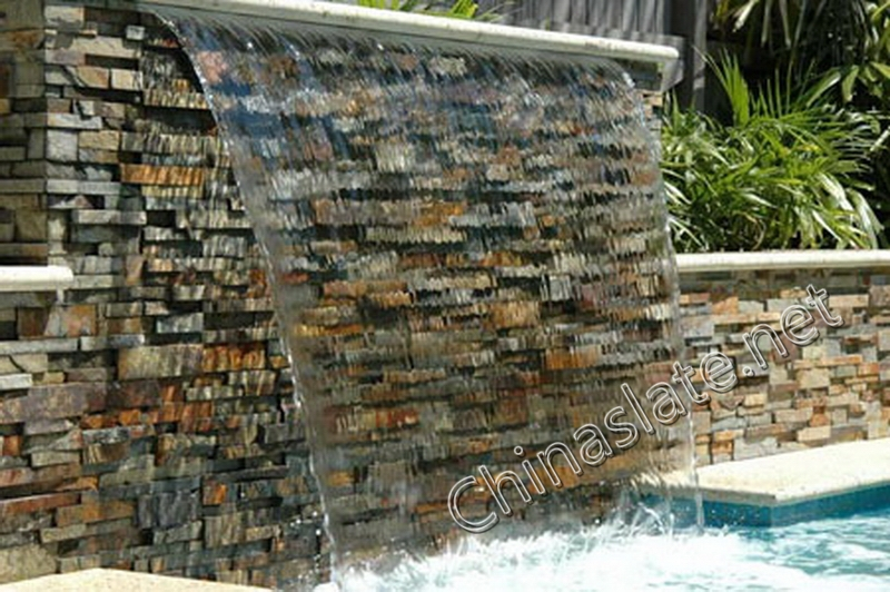Slate Wall Quartzite Cladding Stone Wall Project Cultured