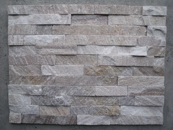 Gold wire wood quartz wall cladding stone
