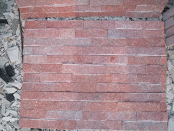 red quartzite stone veneer