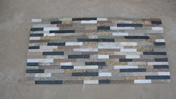mixed quartzite ledge wall cladding stone