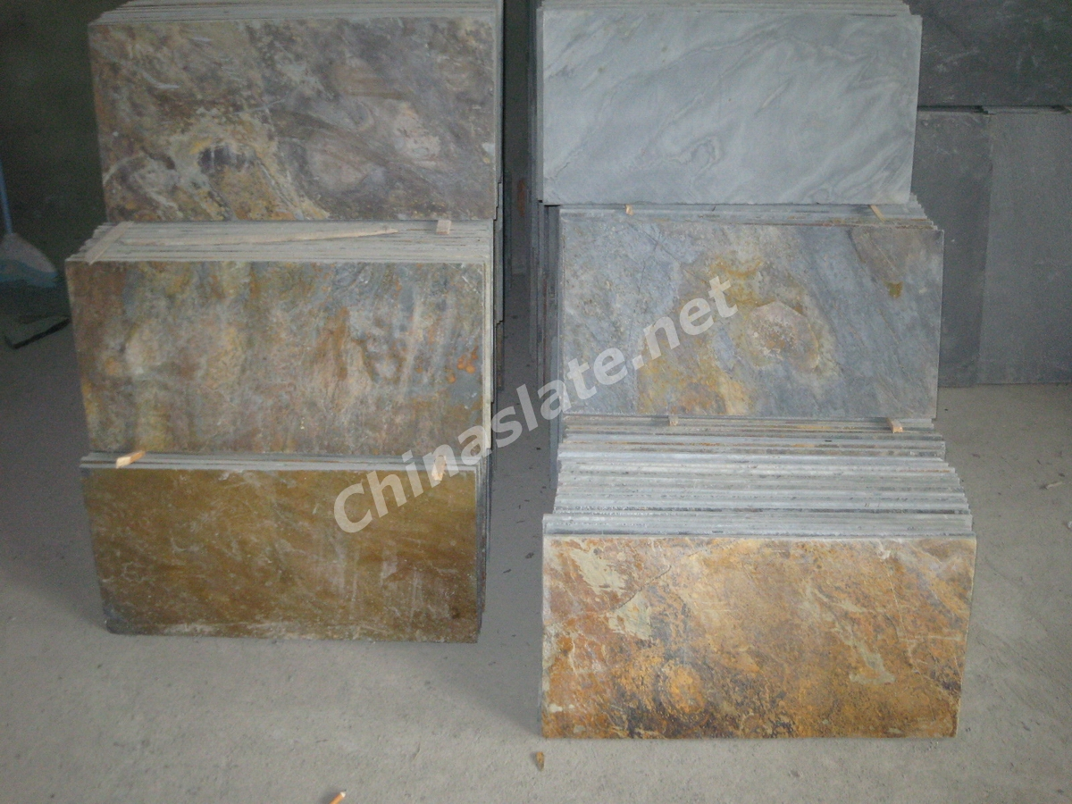 Chinese Rusty Slate And Rust Color Natural Slate Flooring Tiles