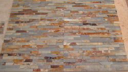 rust slate ledge wall stone veneer