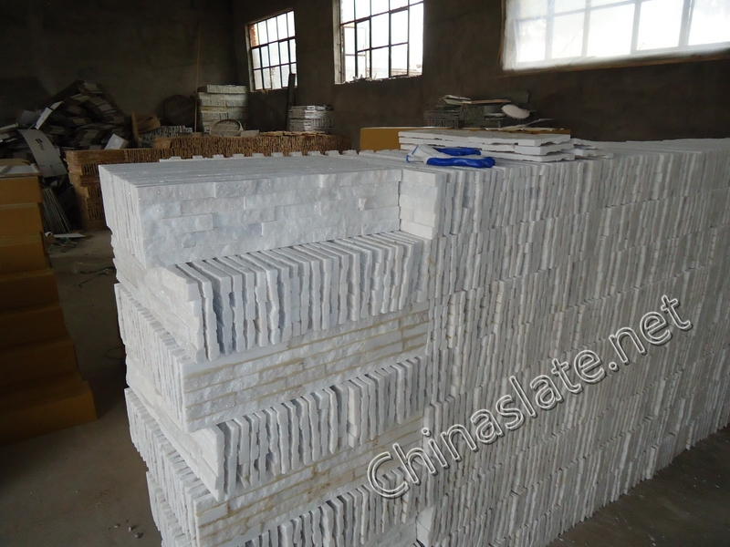 Statuario White Marble Wall Cladding : Statuario white quartzite cultured stone veneer pure