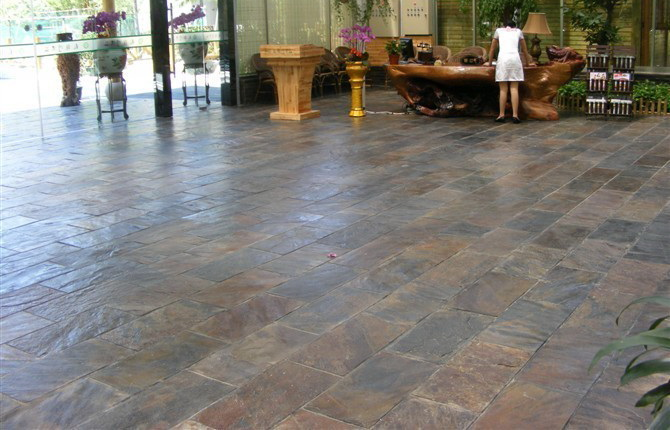 Chinese Rusty Slate And Rust Color Natural Slate Flooring